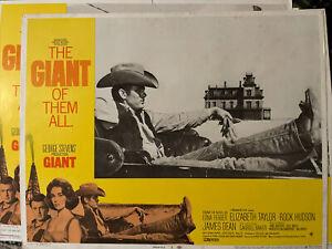 "James Dean ""Giant""Movie Lobby Cards USA Set of 6"