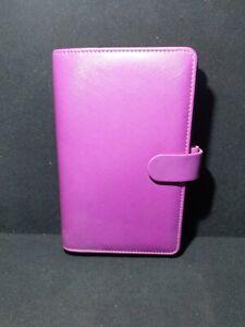 Filofax 'Personal' Saffiano Organiser Raspberry/Purple includes inserts ,compact