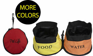 Waterproof Food and Water Collapsible Folding Travel Pet Dog Bowl Feeder