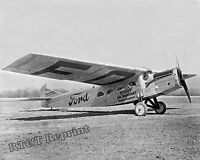 "Historical Photograph of Airplane Stout 2AT-2 ""Maiden Dearborn"" Michigan 1925"