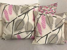 1 Landhausstil Kissenhülle * Kissenbezug * rosa/taupe/grau 40x40