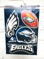 Philadelphia Eagles 4 Aufkleber Decal Badges Set NFL Football Neu