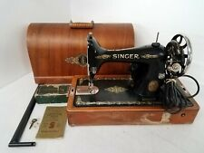 Vintage Singer No. 99-13 Portable Electric Sewing Machine E8360258 Ut