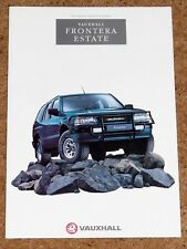 1993-94 VAUXHALL FRONTERA ESTATE Sales Brochure - 2.3TD 2.4i Near Mint Condition
