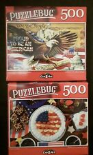 500 piece jigsaw puzzle - Puzzlebug - Lot of 2 - Eagle USA Yummy America