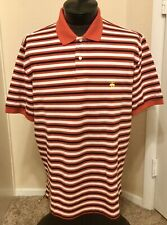 BROOKS BROTHERS XL PERFORMANCE POLO Logo Red Stripe Shirt *excellent condition
