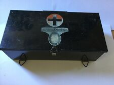 FASSETT & JOHNSON - LONDON - ANTIQUE FIRST AID TIN WITH CONTENTS