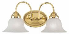 Livex Lighting 1532 Brass Edgemont Bathroom Vanity Bar With 2-Lights