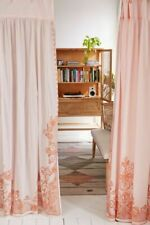 Urban Outfitters Home Pleated Printed Lace Curtain Single