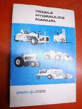 Up To 1983 Sperry Mobile Hydraulics Student Training Manual M-2990-A 2Nd Edition
