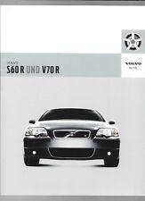 VOLVO S60R AND V70R SALES BROCHURE 2006  GERMAN LANGUAGE