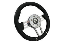 BLACK V2 SPORTS STEERING WHEEL 310mm fits Momo OMP boss kit VAUXHALL