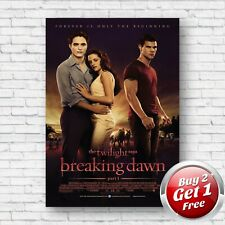 Twilight Saga Breaking Dawn Part 1 Film Movie A4, A3, A3+ Borderless Poster V3