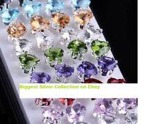 Heart crystal stud earrings