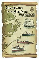 Graveyard of the Atlantic, Ship Wrecks USS Monitor etc North Carolina - Postcard