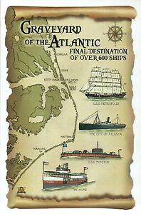 Graveyard of the Atlantic, Ship Wrecks USS Monitor etc North Carolina - Postcard