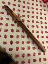 Tan-colored wood Native American Flute