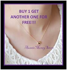 2 for 1 free Gold necklace Cross heart angel skull peace wish bone Pendant Chain
