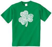 Distressed Shamrock Kids Youth T-Shirt Tee St. Patricks Day Irish Pride Holiday