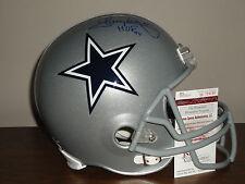 Tony Dorsett Signed Full Size Dallas Cowboys Football Helmet HOF PROOF JSA Auth.
