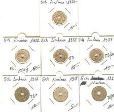 LOT 7 PIECES FRANCE 5 CENTS LINDAUER ENTRE 1922 A 39