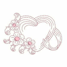 1068:  Machine Embroidery Designs - Have a Heart - Redwork