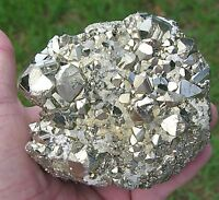 Shiny PYRITE CUBE Cluster PREUVIAN Crystal Point Sparkly and Shimmery Fools Gold