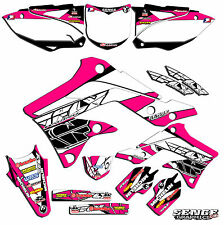 2009 2010 2011 KXF 450 GRAPHICS KAWASAKI KX450F KX F 450F DECO DECALS PINK FLY