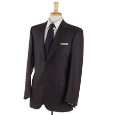 NWT $6800 BRIONI Brown and Sky Blue Stripe Superfine Wool-Silk Suit 38 R
