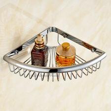 Chrome Brass Corner Shelf Bathroom Shower Caddy Organiser Tidy Rack Shelf Basket