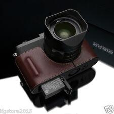 New GARIZ Leica Q Leather Half Case Brown For Leica Q (Typ 116) Leica Q Case