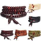 6mm 108 Sandalwood Buddhist Buddha Meditation Prayer Bead Mala Bracelet Necklace