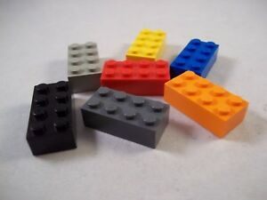 Lego 2 x 4 Bricks x 10 Pieces, P/N 3001 – Choice of Colours – Pre-Owned
