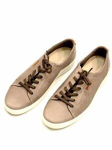 ECCO Men's Soft 7 Sneakers Luxury Leather Danish Design Gray Steel 10-10.5