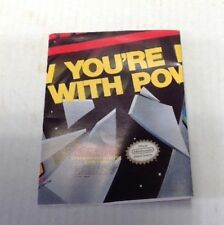 Nintendo NES Now You're Playing With Power 1989 Promo Poster / Insert
