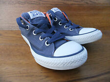 Kids Converse CT All Star Blue / Orange Canvas Trainers Size UK 2 EUR 34