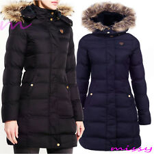 New GIRLS PUFFA PARKA JACKET COAT HOODED Padded CLOTHING AGE 7 8 9 10 11 12 13 W