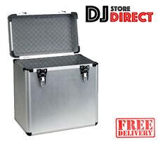 """Aluminium Storage Case Metal Pro DJ Vinyl Box - Holds 50 LP Album 12"""" Records"""