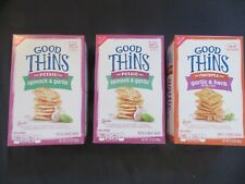 (3) Nabisco Good Thins Potato Spinach Garlic & Chickpea 3.75 & 5.75 Oz