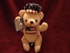 """DAN DEE COLLECTOR'S CHOICE BEAN BAG FRIENDS BEAR PLUSH AMERICAN FLAG 7"""" NWT"""