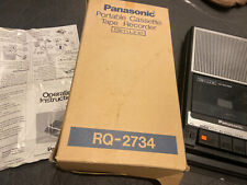 Panasonic SlimLine AC/DC Cassette Player/Recorder with Handle RQ-2734 in Box