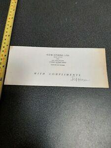 R.E.M. /ATHENS LTD, COMPANY COMPLIMENTS SLIP SIGNED jEFFERSON (HOLT)