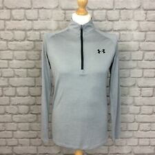 Under Armour Mens Uk S 1/4 Zip Heatgear Long Sleeve Top Pullover Gym Active