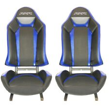 NEW STYLE Polaris Turbo S RZR XP1000 900 Seats Black/Blue/White - 1 Pair