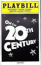 ON THE 20TH CENTURY PLAYBILL NYC NEW YORK BROADWAY APRIL 2015 KRISTIN CHENOWETH