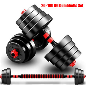 Pairs or Singles With FREE DELIVERY Adjustable Dumbbells UP TO 62.5kg