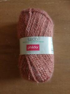 """Lot 14 Pelotes de laine PHILDAR """"Illico"""" couleur tomette"""
