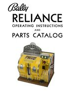 Bally's Reliance Dice Machine Operating Instructions & Parts Catalog 15 Pg.1936