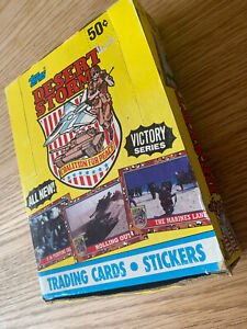 BOX OF 36 UNOPENED PACKS 1991 TOPPS DESERT STORM TRADING CARDS VICTORY SERIES