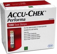 Accu-Chek Performa 100 Test Strips,Glucometer Blood glucose Exp- 30-Sep-2020